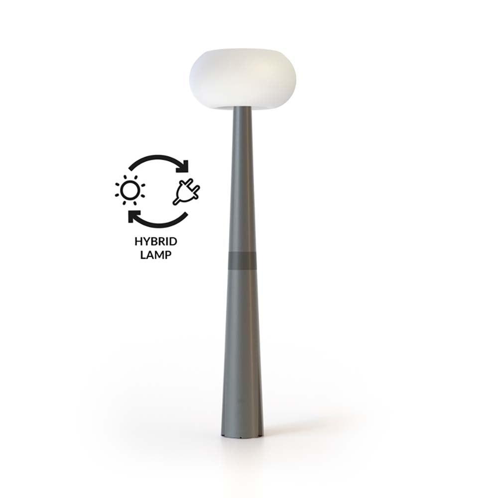 Licht-Trend LED-Solar-Mastleuchte Pepita mit Hybridsystem Grau 2