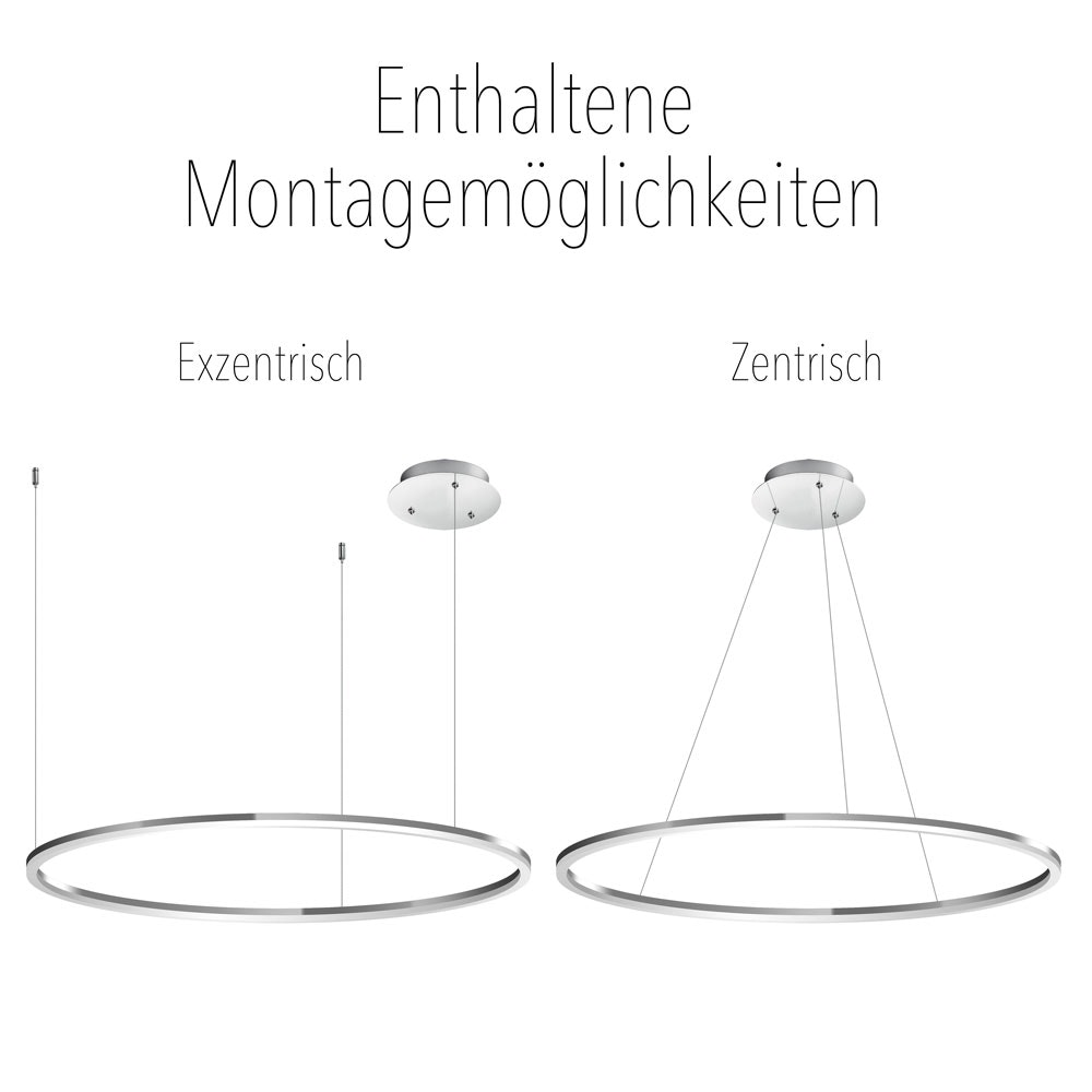 s.LUCE Ring 80 LED Pendellampe 5m Aufhängung 18
