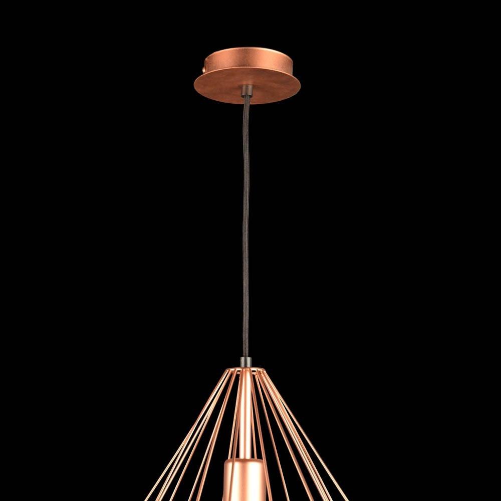 Bosco Metall-Pendelleuchte im Vintage-Look Kupferfarben 8