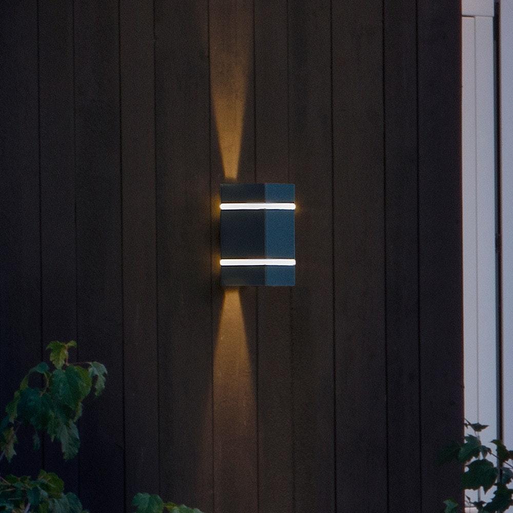 Cremona LED Aussen-Wandleuchte mit Lichtstreifen + Lichtstrahl einstellbar Anthrazit 3