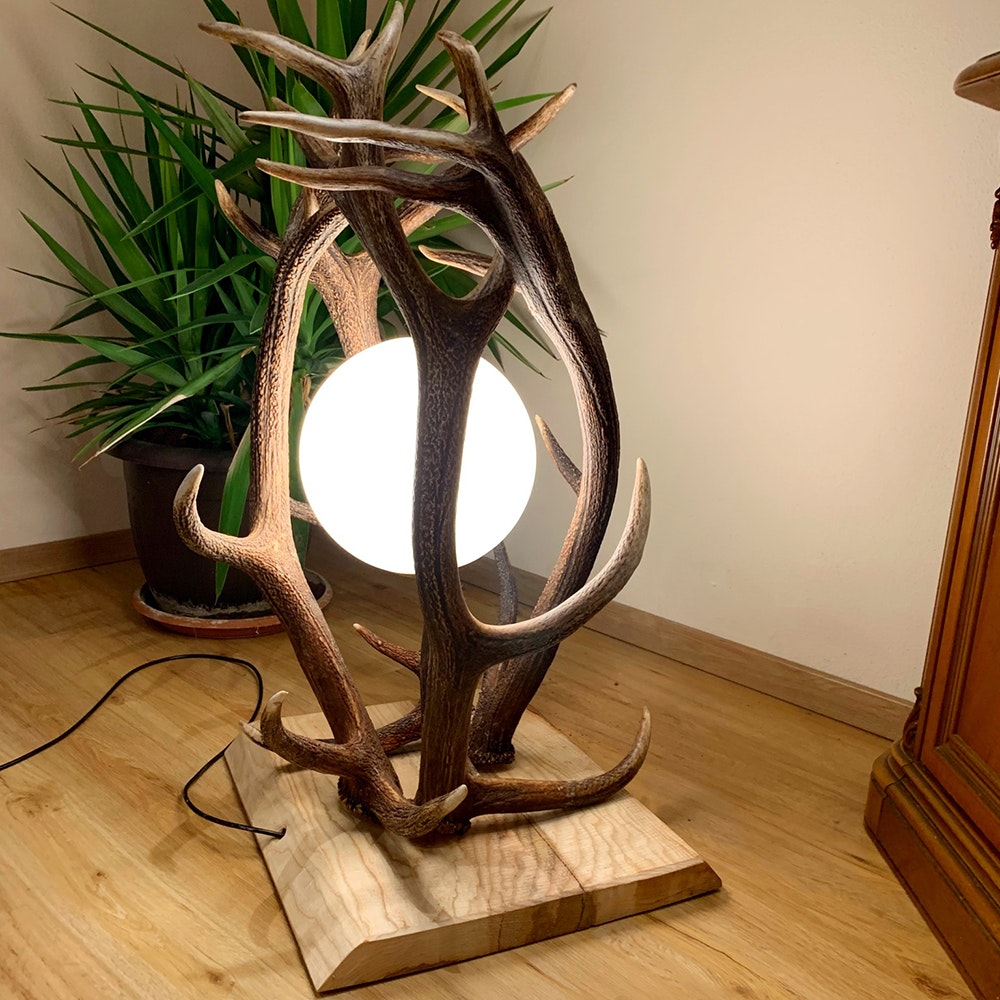 Chalet Geweih Stehlampe Rothirsch 70cm thumbnail 3