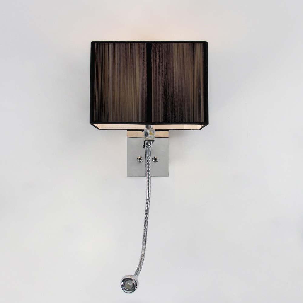 s.LUCE Twine Wandleuchte mit LED-Lesearm und Stoffschirm 11