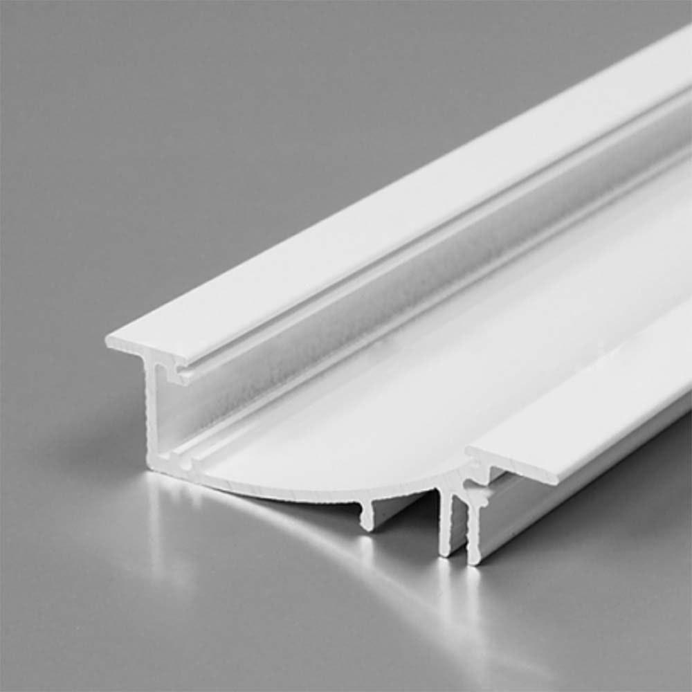 Einbauprofil geschwungen 200cm Weiß ohne Abdeckung für LED-Strips 1