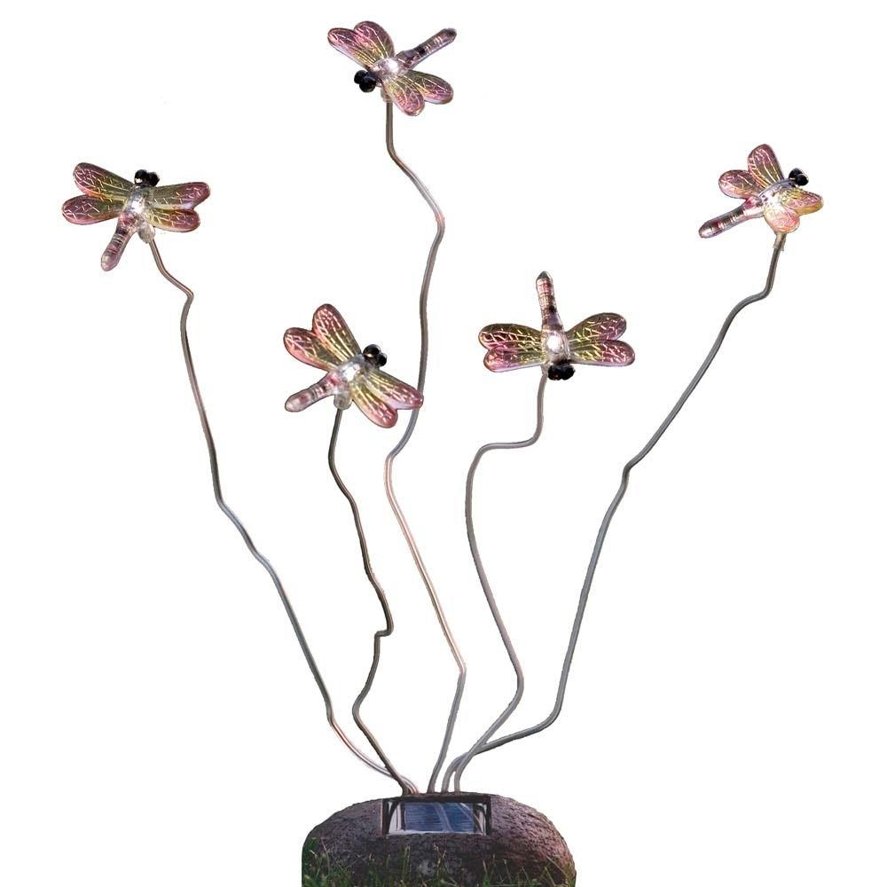 LED Solarleuchte Libelle Assisi Steinoptik 5-flg.