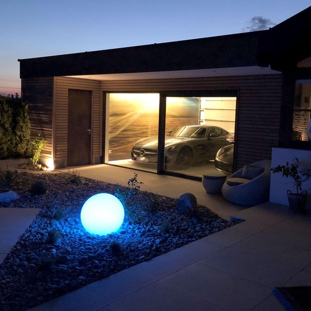 s.LUCE pro Globe+ langlebige Garten Aussenkugel Weiß 11