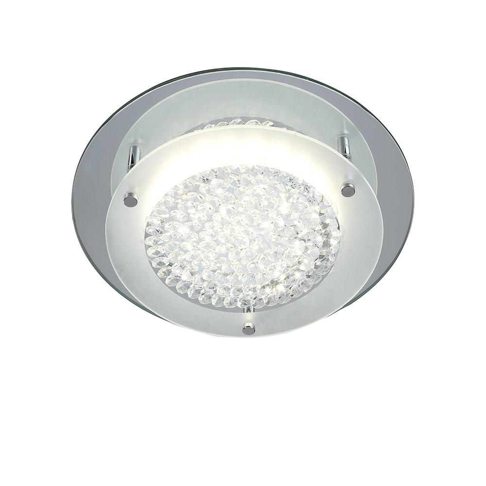 Mantra Crystal LED Mirror runde Deckenlampe 2