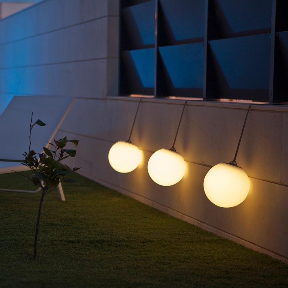 Licht-Trend LED-Hängeleuchte in Kugelform Norai mit Fernbedienung  4