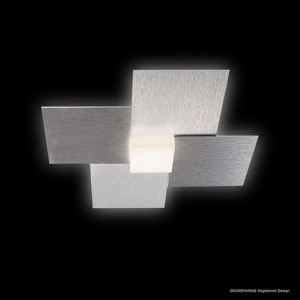 Creo LED-Deckenleuchte 1-flammig 27 x 27cm Alu-matt 1