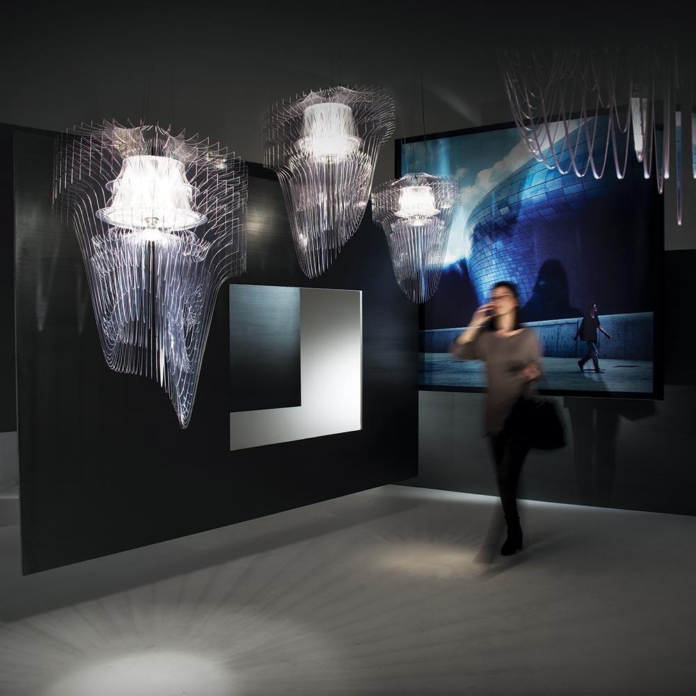 Slamp LED Pendelleuchte Aria Medium 3500lm 2700K Transparent