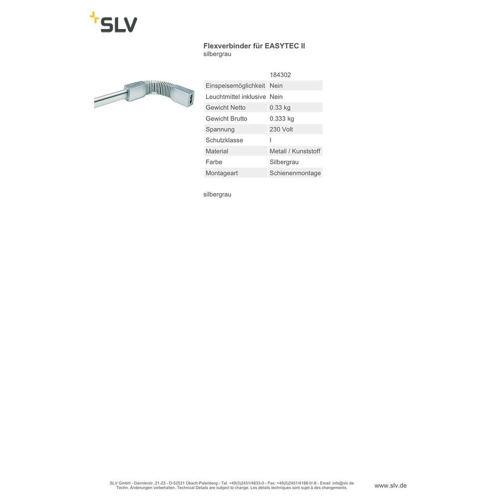SLV FlexVerbinder für EASYTEC II Silbergrau 2