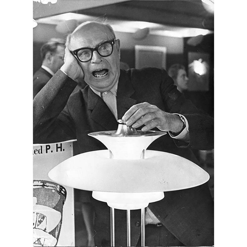 Louis Poulsen Glas-Pendellampe PH 4½ -4 Chrom 6