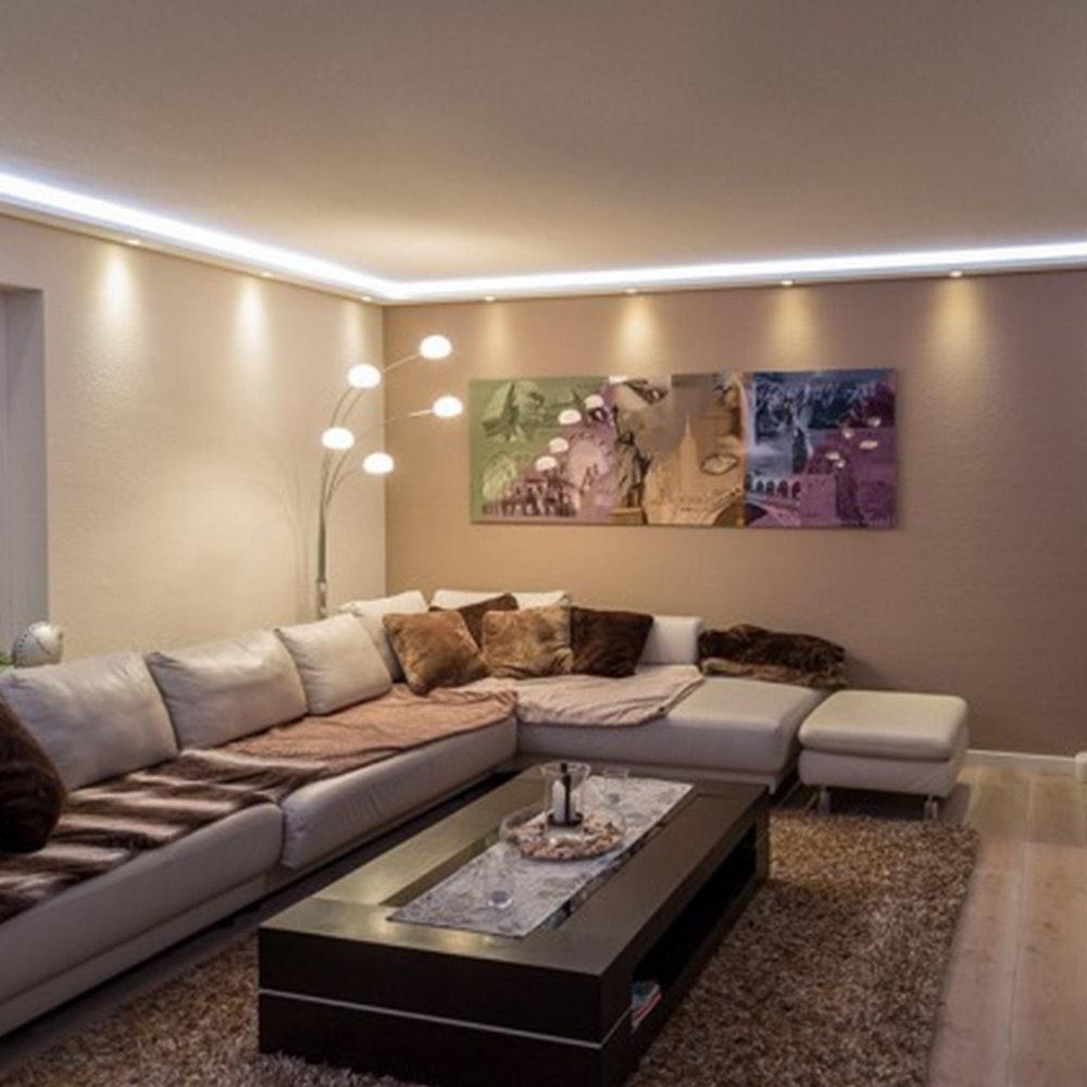 Dekor-Profil M Stuckleiste 1,2 m indirekt Wand oder Decke 3