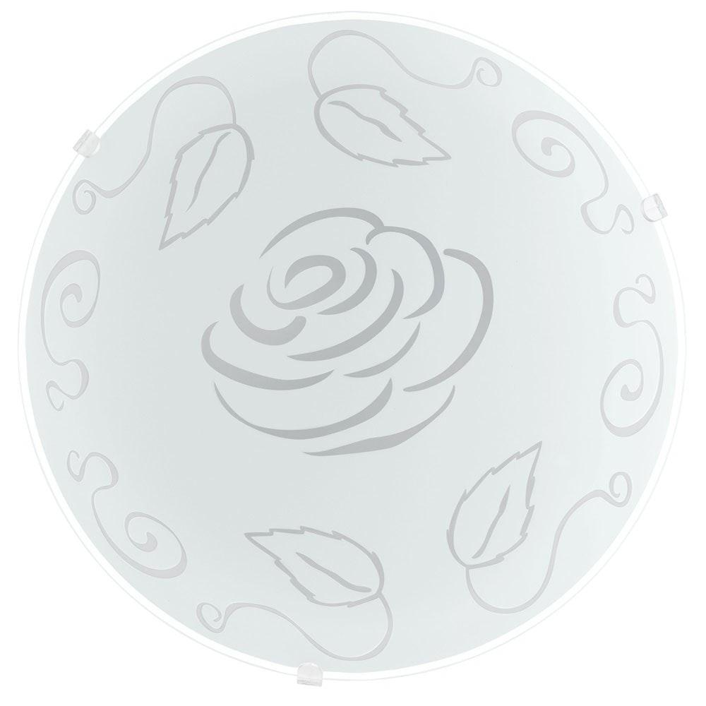 Mars 1 Wand- & Deckenleuchte Ø 24,5cm Motiv Rose, Weiß