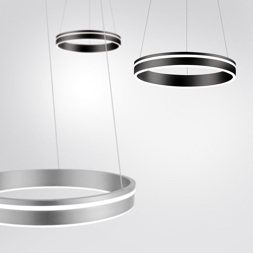 LED Pendelleuchte Q-Vito Ø 40cm CCT Anthrazit 1