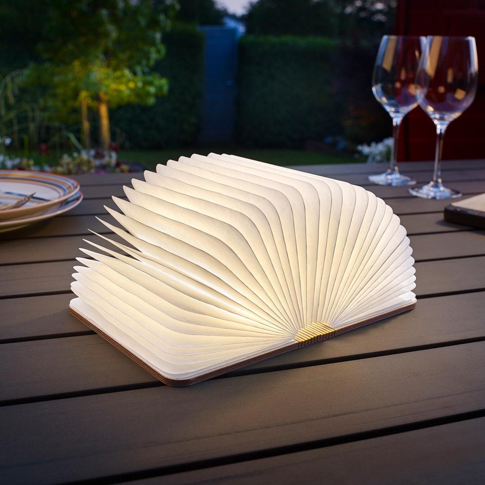 Helestra LED Tischleuchte Memo Holzstruktur Weiß 4