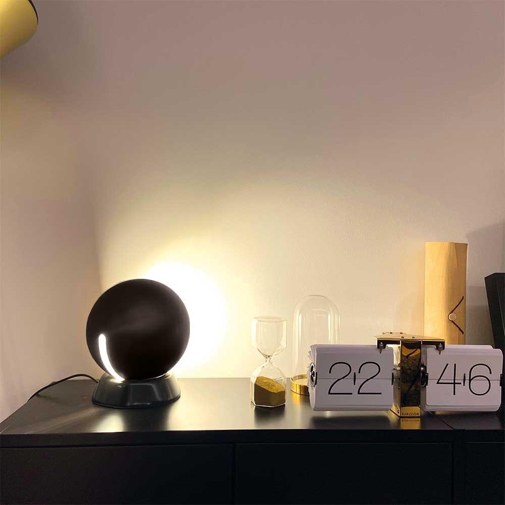 s.LUCE Ball Tischleuchte schwarzer Marmor Ø 20cm thumbnail 4