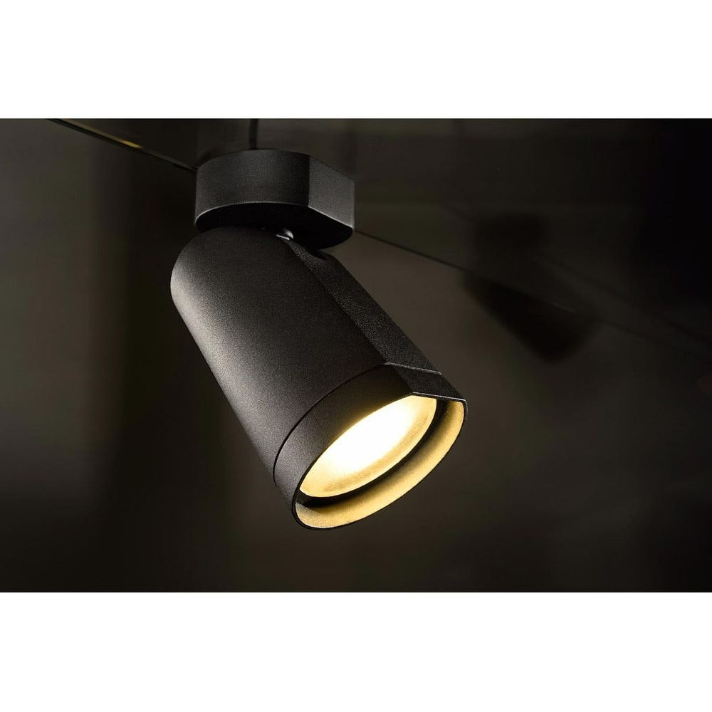 SLV BILAS Spot Single 25° LED rund matt Schwarz 15W 2700K mit Rosette 4