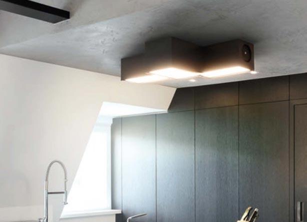 Deckenlampe in Küche