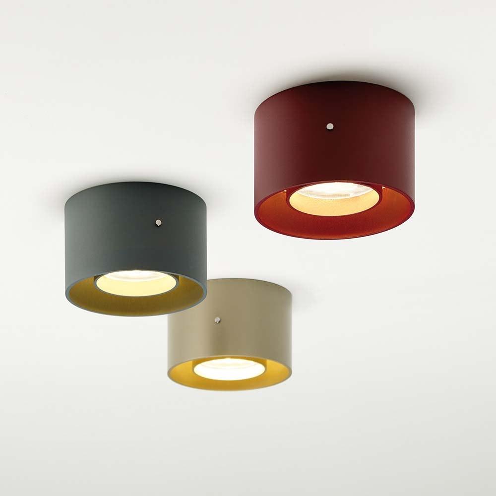 Oligo minimalistische LED Deckenleuchte Trofeo Schwarz, Goldfarben 3