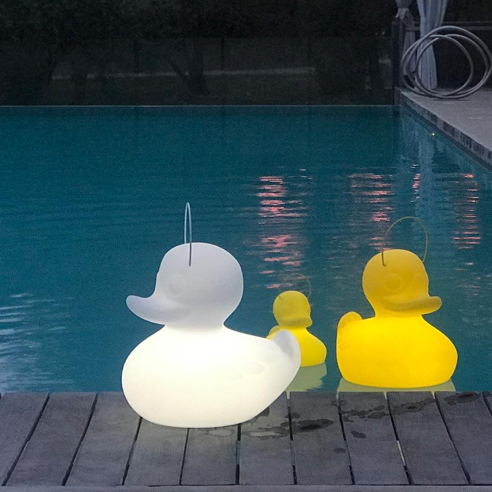 Schwimmfähige Akku-LED-Leuchte Duck-Duck S Weiß 3
