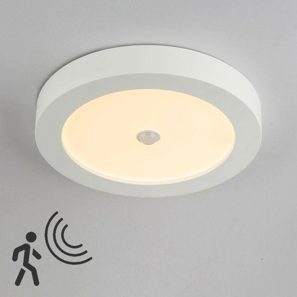 Licht-Trend LED Sensor Deckenleuchte Rafa Ø 22cm IP44 1600lm Weiß