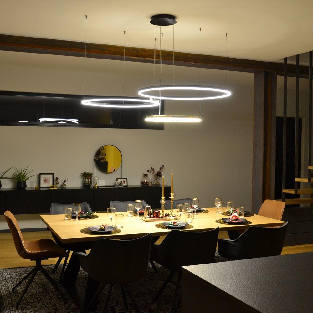 s.LUCE Ring 120 LED Pendelleuchte 5m Abhängung 6