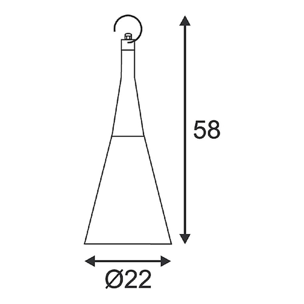 SLV Plenum Swing Pendelleuchte rund anthrazit E27 max. 25W 3