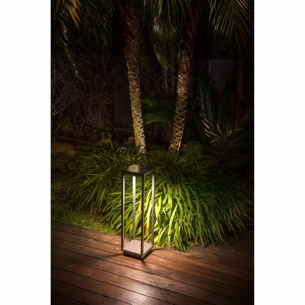 LED Solar Wegeleuchte SAURA mit Bewegungsmelder IP54 Dunkelgrau 3