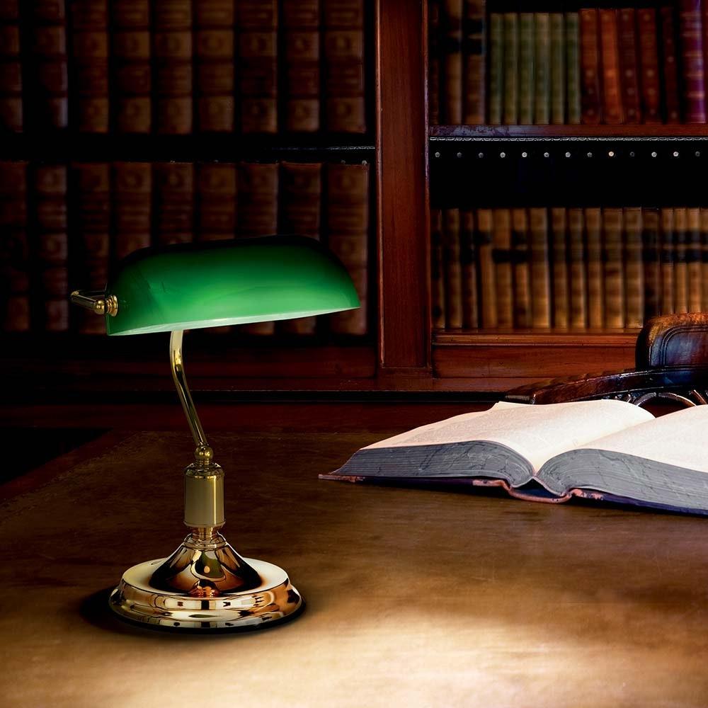 Ideal Lux Tischleuchte Lawyer Tl1 Ottone