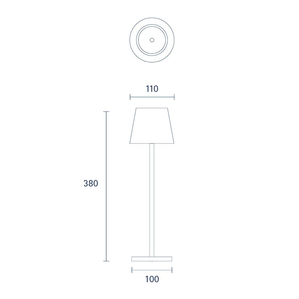 LED Außen Akku-Tischlampe Qutarg Easy-Connect IP54 25