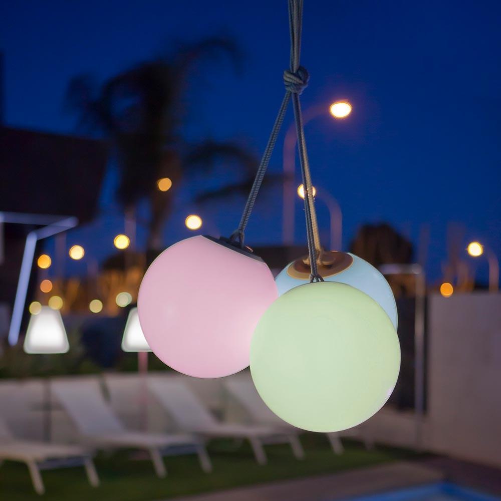 Licht-Trend LED-Hängeleuchte in Kugelform Norai mit Fernbedienung  3