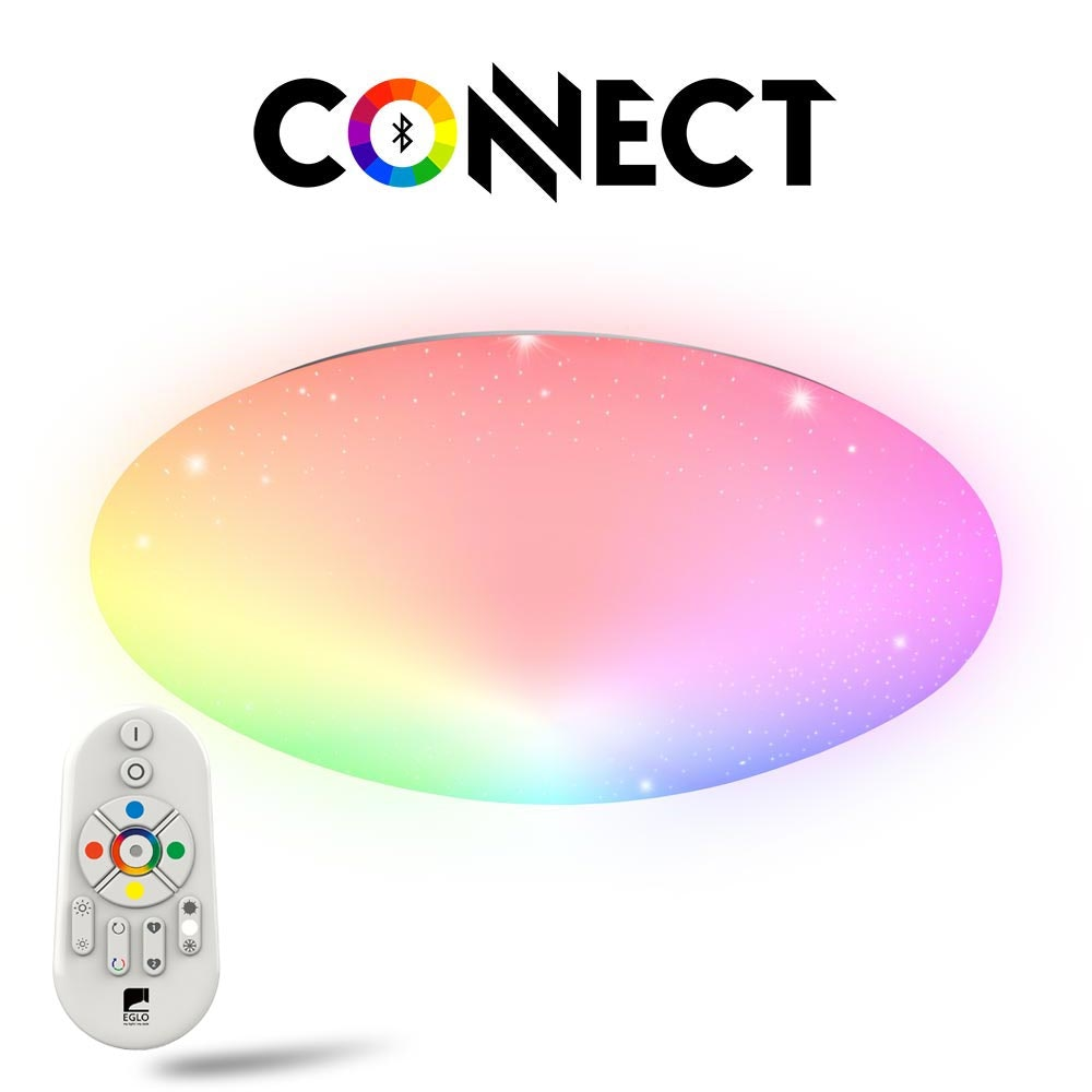 Connect LED Deckenlampe Kristalleffekt 5400lm RGB+CCT 2