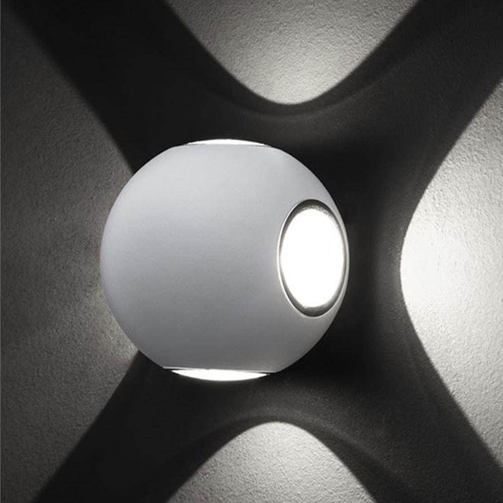 Nova Luce Zari Mini Wandleuchte 5cm Lichtstrahlen IP54 11