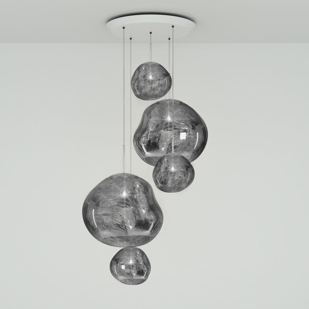 Tom Dixon Melt Large LED Hängelampe 5er Mobile 2