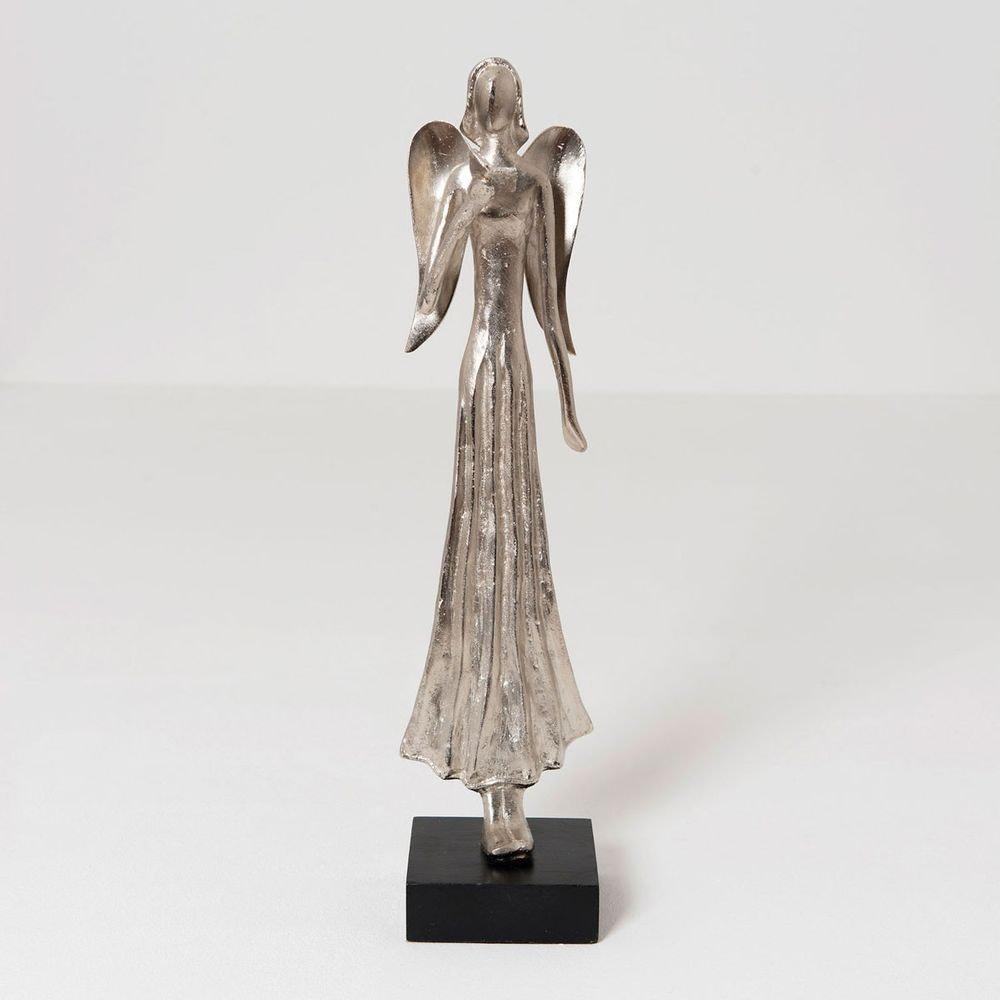 Engel Helena Aluminium-Holz Silber-Schwarz 2