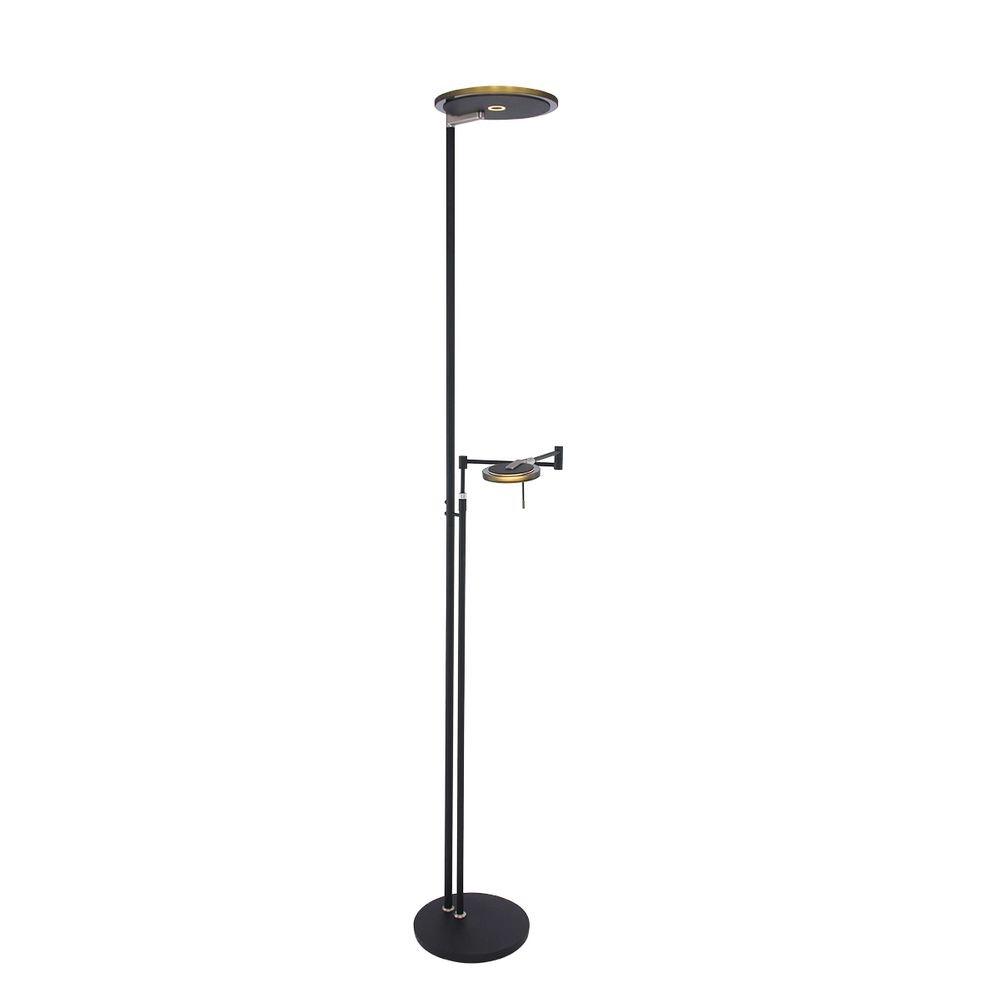 Steinhauer LED-Deckenfluter Turound LED mit Lesearm Tastdimmer 2700K thumbnail 5