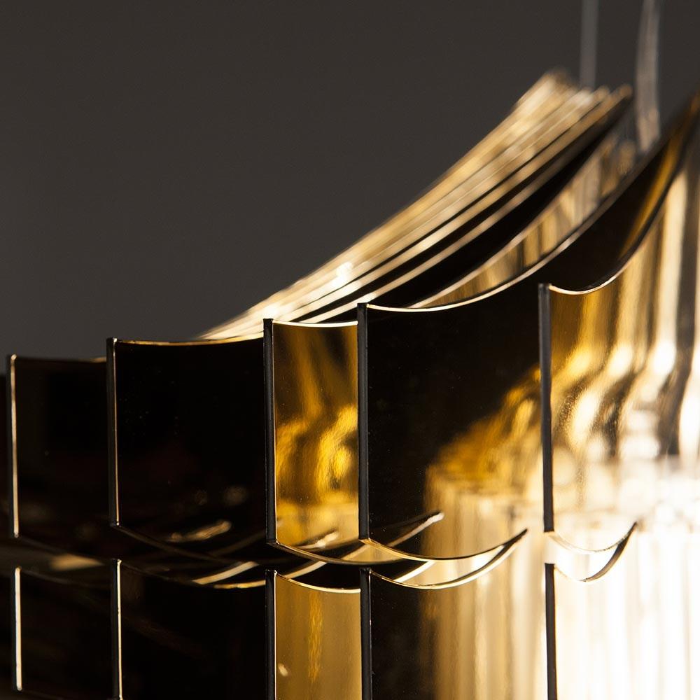 Slamp LED Hängelampe Aria Medium 3500lm 2700K Gold 7