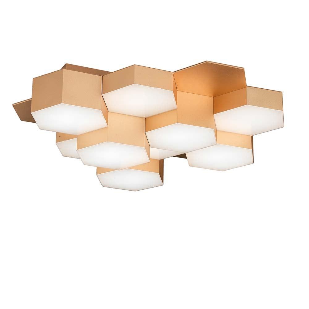 Pettine LED Design Deckenleuchte 43W, 3000K Gold-satiniert 2