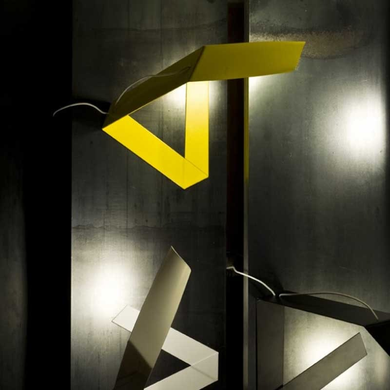 Prandina moderne Schreibtischleuchte LED Elle T1 Gelb 1