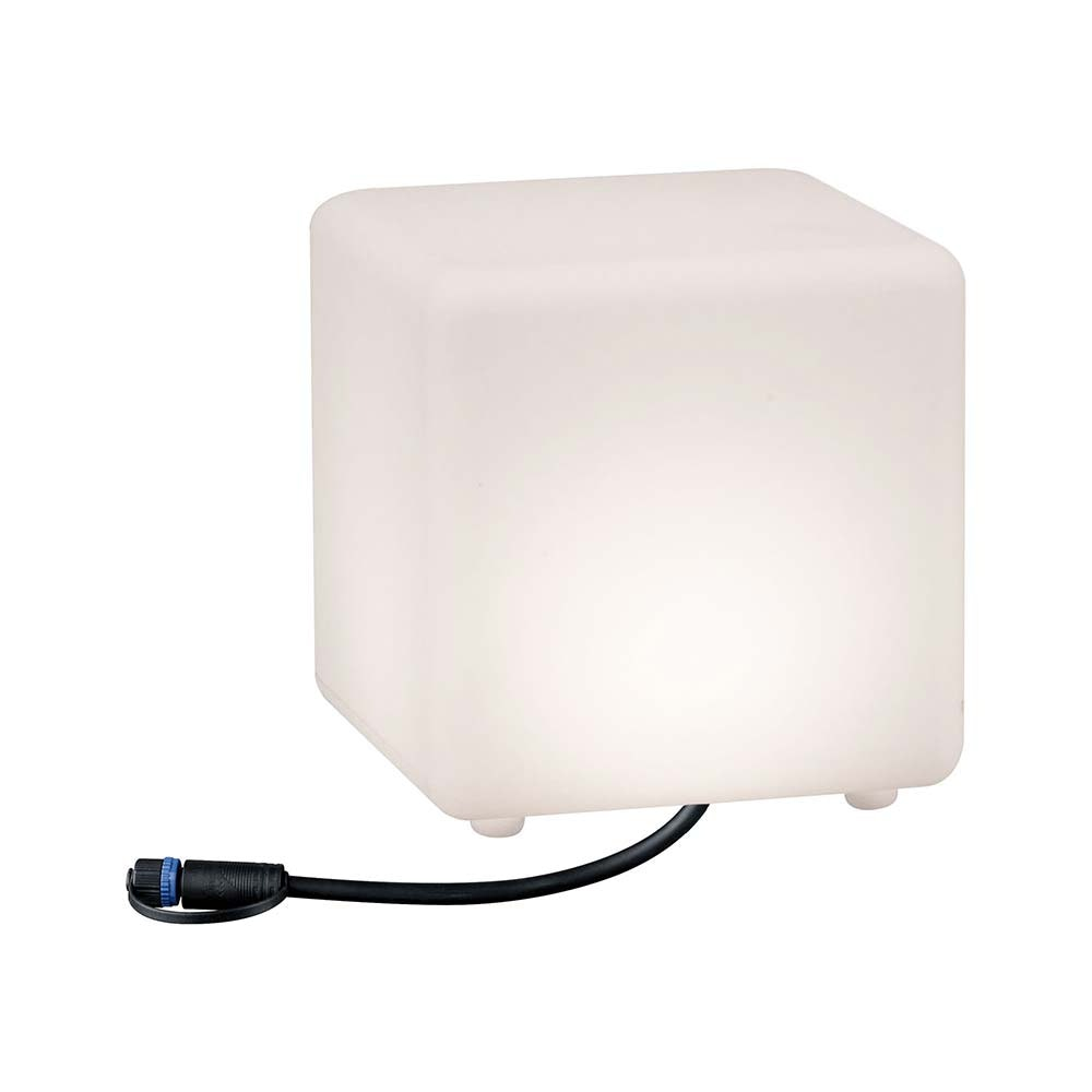 LED Plug & Shine Lichtobjekt Cube 20x20cm IP67 24V 3000K 235lm