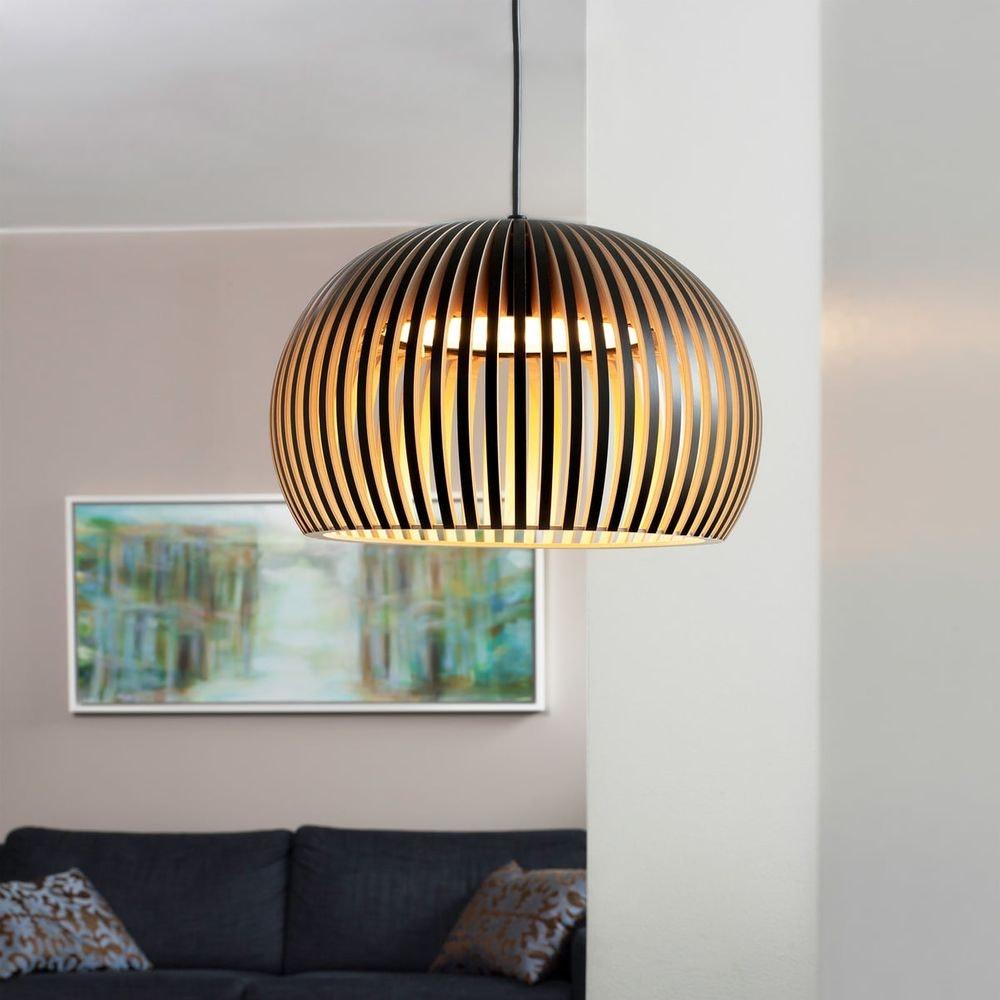 LED Pendelleuchte Atto 5000 aus Holz Ø 34cm 6