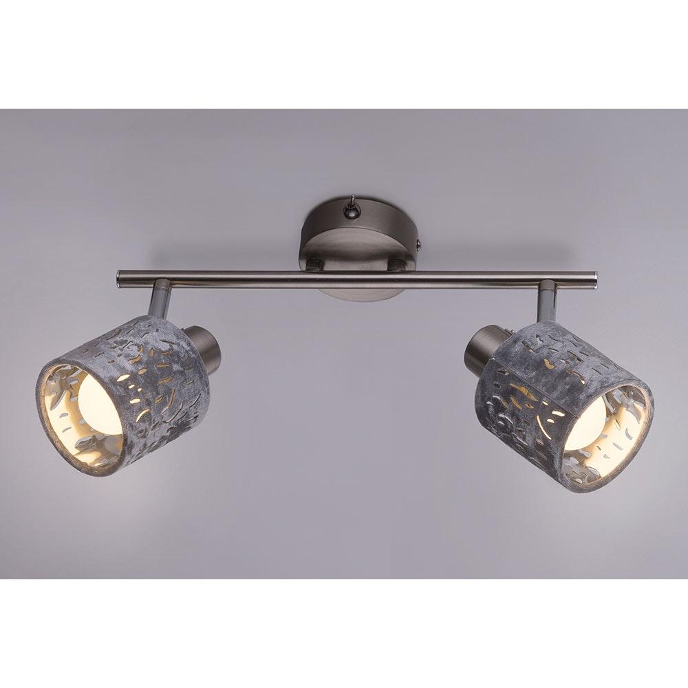 Strahler Alys 2-flg. Schirm mit Dekorstanzungen Nickel-Matt, Silber-Metallic 6