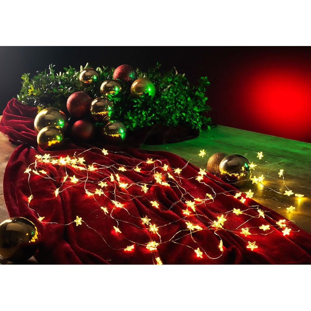 LED Sternenlametta 26 Stränge mit 27 Dioden 702 Warmweiße Dioden 1