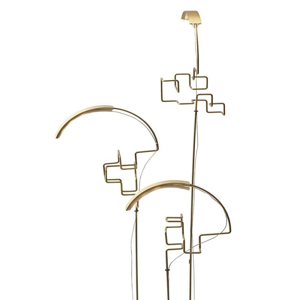 DCW Boucle LED Akku Tischlampe schwarz Gold thumbnail 5