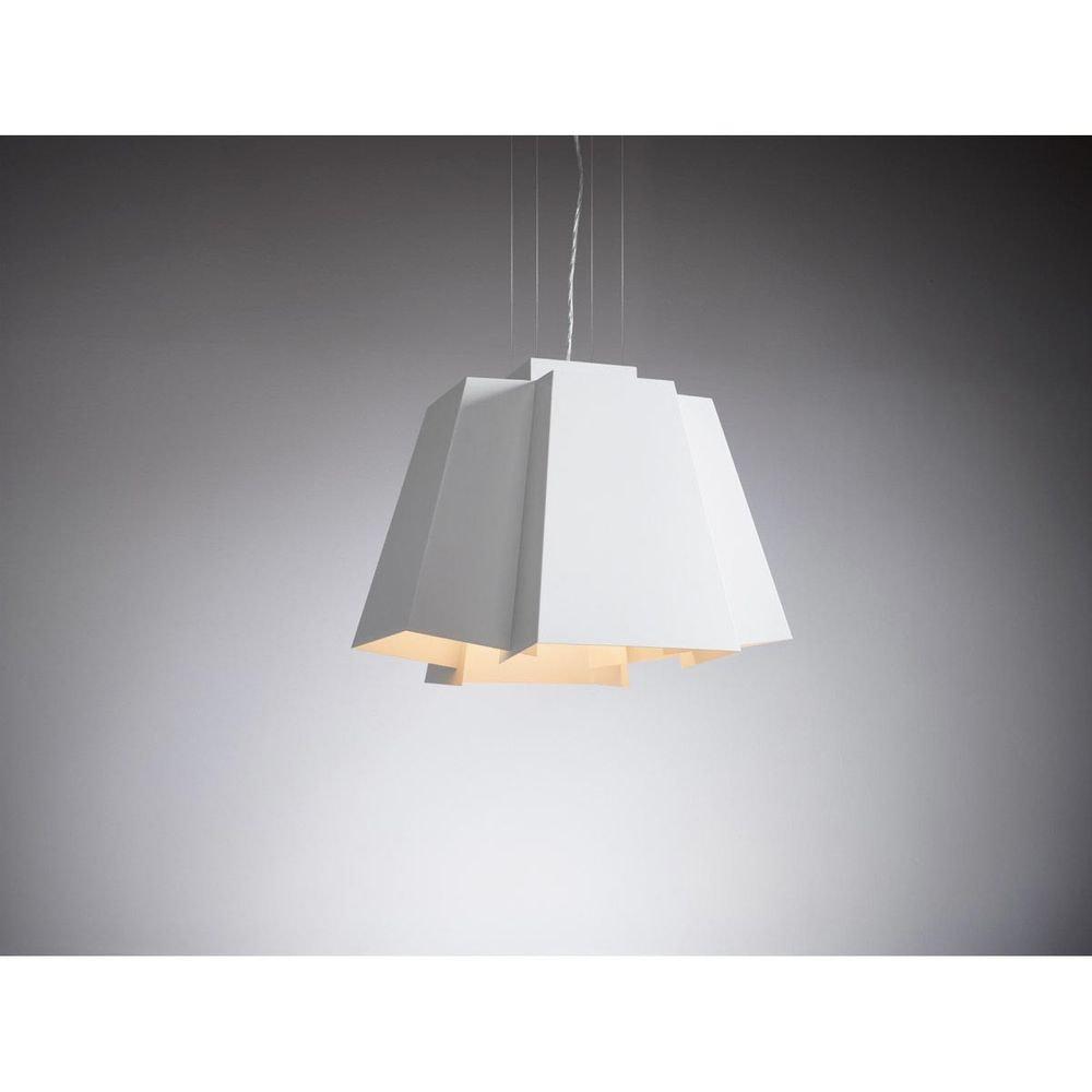 SLV SOBERBIA LED Pendelleuchte 60 eckig Weiß 60 SMD LED 20W 3000K 4