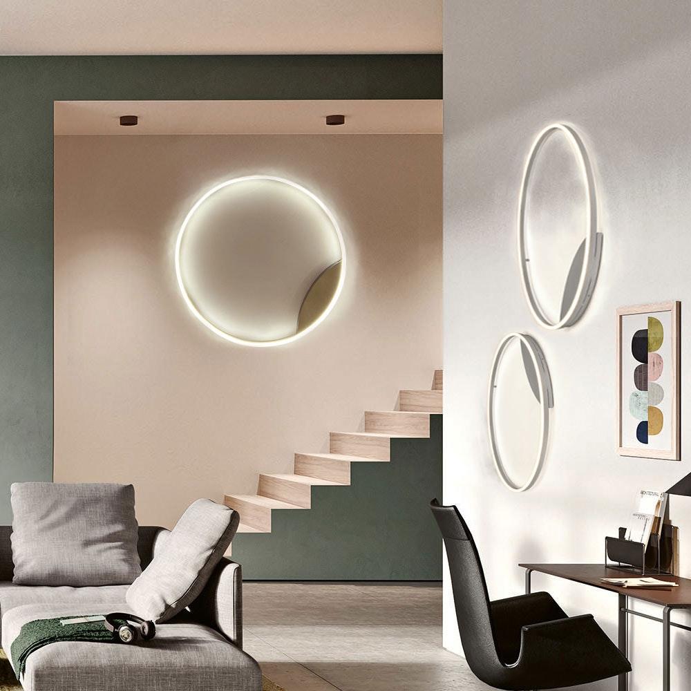 s.LUCE LED Ring 100 Wand & Decke Dimmbar Chrom 13