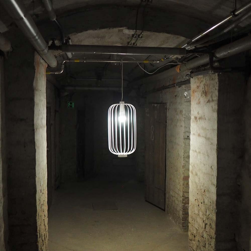 s.LUCE Rooms M direkt & indirekte Gitter-Pendelleuchte Ø30cm 3