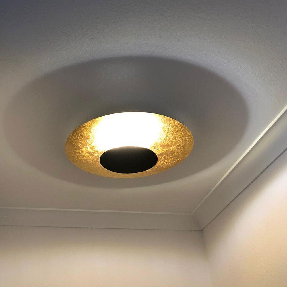 s.LUCE LED Wand- und Deckenlampe Plate Blattgold 7
