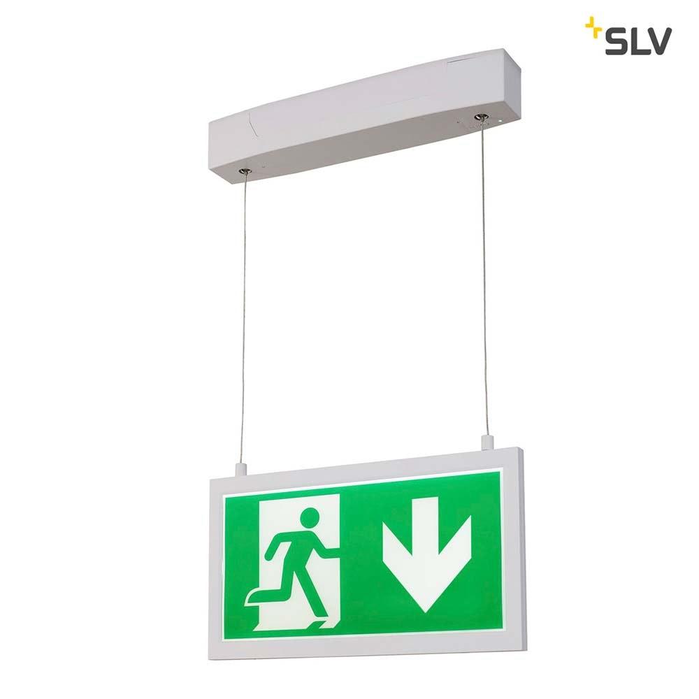 SLV P-Light Emergency Series Exit Sign Big Pendant Weiß 7