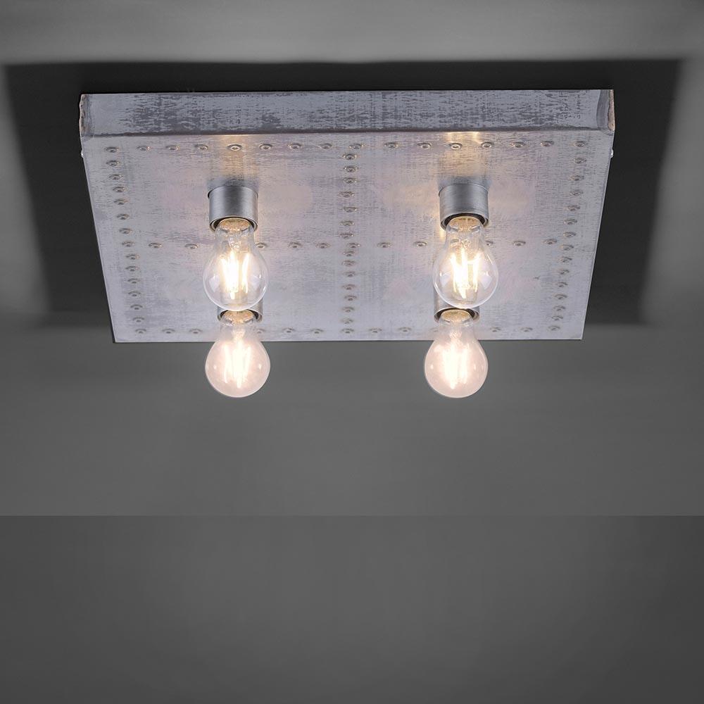 Deckenlampe Samia Vintagestil 4-flg. Eisen 1